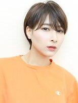 グラデーションカラー小顔ワンサイドショートイワサキカツヤ1346