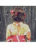 ヘアメイク シュシュ(Hair make chou chou)着物モードツインおだんごアレンジ【chou-chou 北林夏実】