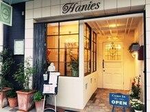 ハニーズ(Hanies)の雰囲気(窓から見えるシャンデリアと赤レンガの入り口がお迎えします♪)