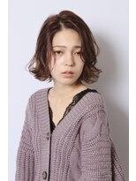 トランク ヘアー デザイン(tranq hair design) 外ハネ × ピンクグレージュ