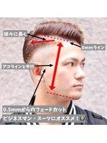 【解説】メンズフェードカット!
