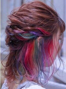 アクイール ピュール ヘア(Accueillir Pur hair)の写真/艶のある立体的なカラーはプロにしかできない技!!あなたのお気に入りのカラーで周りからの視線も独り占め★