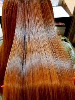 ウィーブ 臼井店(We've)の写真/【髪質改善☆ハリスノフTr】髪を傷ませる薬剤は一切使わず、うねり・パサつきを軽減!なめらかなツヤ髪へ♪