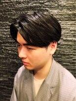 プレミアムバーバー 原宿店(PREMIUM BARBER produce by HIRO GINZA)センターパート×ツーブロック