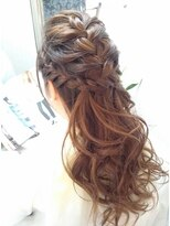 ヘアーグランデシーク(Hair Grande Seeek)seeek style ゆるふわ編みこみハーフUP