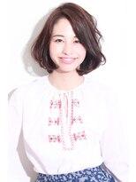 ヘナ ファクトリー 八王子店カットで大人可愛い☆ナチュラル美髪ボブ
