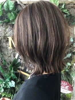 """マム(ma'am)の写真/[千早]【イルミナカラー+カット+Tr¥7150】""""透明感×輝き""""で貴女の髪をさらに美しい色に!!"""