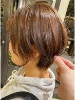 シャンプー 本店(SHAMPOO)【shampoo】大人可愛い小顔ひし形ハンサムショートボブ前下がり
