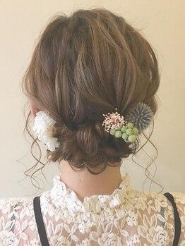ルプラ ガーデン(le-pla garden)の写真/結婚式、二次会、イベントなど特別な日のヘアセットならガーデンで!普段のちょっとしたアレンジもお任せ!