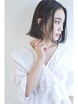 ボヌール 西梅田店(Bonheur)【女性stylist杉崎】お色気大人ボブ