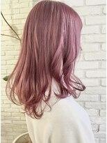 ロンドプランタン 恵比寿(Lond Printemps)韓国風ピンクカラー×ミディアムヘア