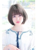 ヘアメイク シュシュ(Hair make chou chou)ひし形ミニマムボブ×グレージュカラー【chou-chou 北林夏実】