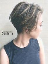 """サンテリア(Santeria)【Santeria】""""美首シルエット""""×コントラストハイライト"""
