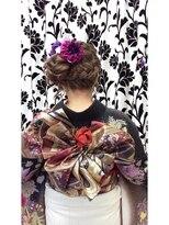 ヘアーアンドメイクサロン ハナココ(hair&make salon hana Coco)薔薇帯 振り袖着付けヘア