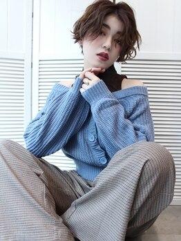 """バンクスヘアー(BANK'S HAIR)の写真/ダメージヘアやハイトーンカラーの方でも綺麗なパーマを再現♪こなれ感のある""""ウェービーヘア""""はおまかせ!!"""