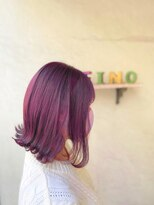 ヘアーメイク アフィーノ(hair make affino)ピンクヴァイオレットカラー