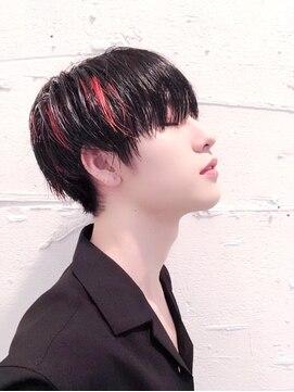韓国風マッシュヘア☆素髪.暗髪.ブリーチ.メッシュOKコンマヘア