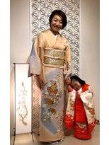 サトワ(Satowa)3歳ヘアーセット 編み込み 訪問着