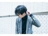 【男性限定】cut + 炭酸cleansing + 眉cut +pre treatment + drink / 7560