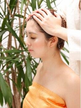 ヘアープレイス アペーゴ(hair place apego)の写真/美容室ならではの【頭皮と髪のWケア+リラクゼーション】人気急上昇中のスパは一度体験するとやみつきに♪