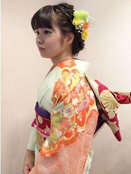 サロン ド ヨシノリ(salon de yoshinori)の写真/成人式/卒業式の袴着付けのご予約受付中!!長時間経っても苦しくならず着崩れしないと大好評です♪