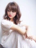 シーヘアデザイン(SHE.hair design)抜け感ベージュ×ミディ