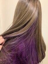 ラボ ヘアデザイン(Lab Hair Design)ミルクティーグレージュ×インナーパープル