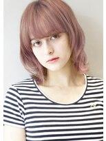 ヘアサロンガリカアオヤマ(hair salon Gallica aoyama)『ピンクベージュ & 毛束感 』無造作・毛束感ウルフスタイル☆