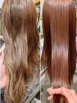 ブラン(Blanc)の写真/【髪質改善+カット¥9400】指通り、柔らかさ、艶、収まり、潤いが手に入る髪質改善で扱いやすい髪へ!