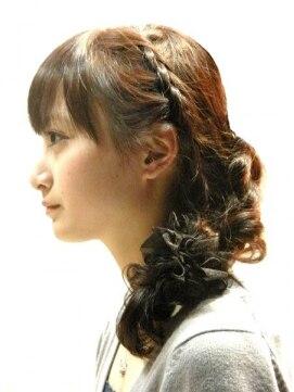 ニアロ(niaro) 三つ編み編みこみヘアアレンジ 【hair creation niaro】