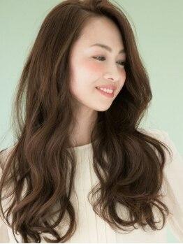 ベスト オブ ヘア ミヤ 新さっぽろ店(best of hair MIYA)の写真/柔らかい質感のナチュラル仕上がり♪大人女性のデリケートな髪には『エアウェーブ』がオススメ!
