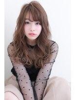 20代・30代・40代に似合う黒髪アッシュ☆小顔カールロング★