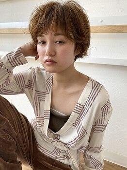 アールサロン(R SALON)の写真/東京・渋谷原宿の有名店出身stylistが提案する外国人風CUT。丁寧なベース創りでクセを活かしたラフstyleに