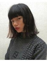 ピープル(people)[people]重ための前髪と切りっぱなしロブ