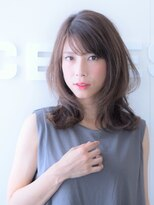 セレスト 川口店(Celeste)厚めバング×小顔なゆるふわミディアム☆【川口店】