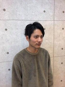 ヘアーデザイン ハック(HAIR Design HaC)【HaC】 アップバング×スパイラル
