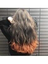 ノル(nol hair&spa)テールカラー×オレンジ