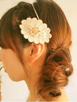 ヘアソムリエゼアラ 精華町店(hair sommelier Zara)の写真/アップ・ダウンstyleも長時間崩れない!結婚式・party・女子会はzaraでとびきり可愛く♪