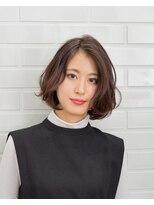 ムード 金沢文庫 hairdesign&clinic mu;d大人ボブ×ランダムカール