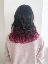 サンクバイフィフス(cinq by fifth)グラデーションカラー 裾カラー ピンクアッシュ 韓国 オルチャン