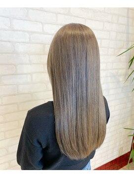 ビス ヘア アンド ビューティー 西新井店(Vis Hair&Beauty)ラベンダー/ブリーチ/アッシュ/ストレート/艶感/立体感/小顔