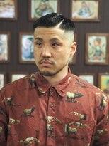 フランクサイドバーン(Frank Sideburns)【barber】スキンフェード・ハードパート
