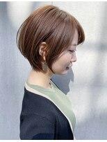 トゥーナ 表参道(tona)外ハネくびれイヤリングカラーイメチェンラベンダーカラー前髪_
