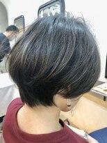 エトネ ヘアーサロン 仙台駅前(eTONe hair salon)大人可愛い20代30代40代小顔ひし形ショートボブ前下がり
