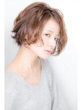 ヘアリライアンスウナ(hair reliance Una)艶かわいい 無造作 前下りグラデーションボブ