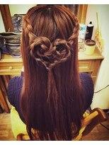 ヘアセットサロン アトリエ チャイ(Hair set salon atelier CHAI)ブレイドハート*ハーフアップ