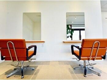 ヘアスペースソル(Hair space SOL/)の写真/広い空間を贅沢に使った2席のみのプライベートサロン-SOL-◇ゆったり過ごせる上質なサロンTimeをお届け…♪