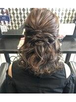 ヘアデザイン ダブル(hair design Double)ハーフアップ