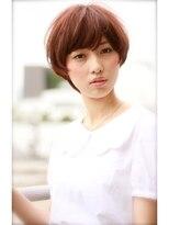 ミンクス 原宿店(MINX)【似合わせカット】小顔ベビーショート×ブルージュ