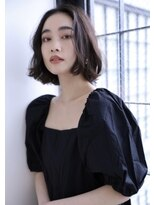 ボヌール 西梅田店(Bonheur)【女性stylist杉崎】大人フェミニンボブ